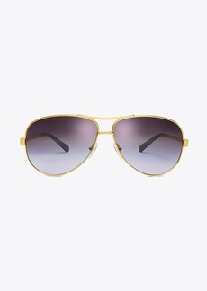 Tory Burch T-Print Aviator Sunglasses