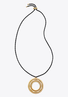 Tory Burch T-STRIPE PENDANT NECKLACE