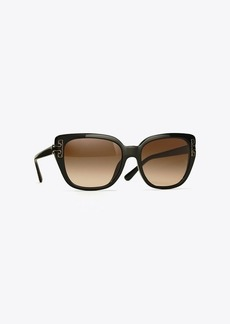 Tory Burch T-TEMPLE CAT-EYE SUNGLASSES