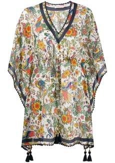 Tory Burch tassel-detail floral tunic