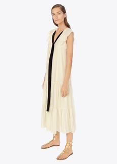 Tory Burch Textured Georgette Maxi Dress