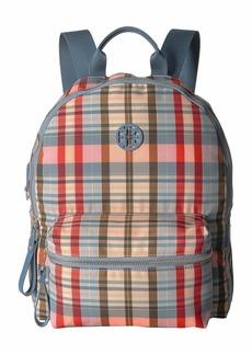 Tory Burch Tilda Plaid Zip Backpack