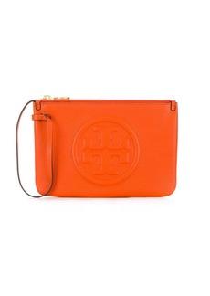 Tory Burch top zip closure clutch bag