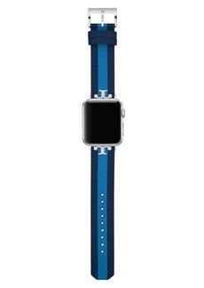 Tory Burch Torch Burch The Serif-T Stripe Strap for Apple Watch®, 38mm/40mm