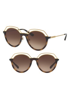 Tory Burch 51mm Round Gradient Sunglasses