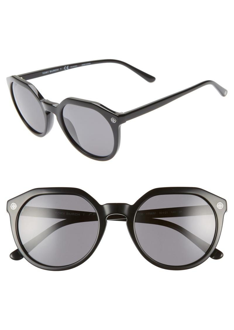783dd0f761ad On Sale today! Tory Burch Tory Burch 52mm Polarized Round Sunglasses