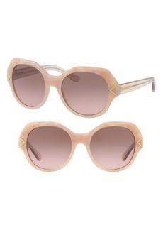 Tory Burch 53mm Gradient Geometric Sunglasses