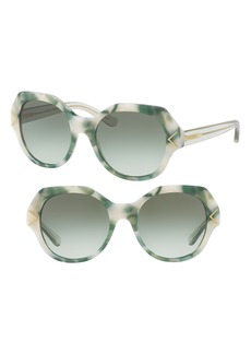 Tory Burch 53mm Gradient Geometric Sunglasses