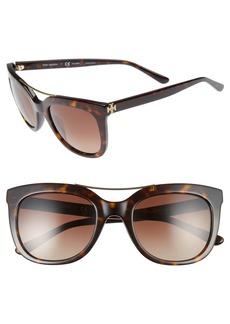 Tory Burch 53mm Gradient Polarized Sunglasses