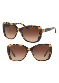 Tory Burch 53mm Gradient Rectangle Sunglasses