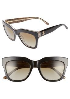 Tory Burch 53mm Gradient Square Sunglasses