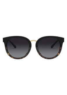 Tory Burch 53mm Phantos Round Sunglasses