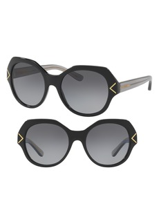 Tory Burch 53mm Polarized Gradient Geometric Sunglasses