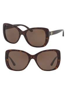 Tory Burch 53mm Rectangle Sunglasses