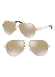 Tory Burch 55mm Gradient Mirror Aviator Sunglasses