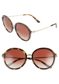 Tory Burch 55mm Gradient Round Sunglasses