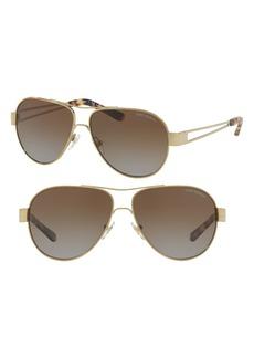 Tory Burch 55mm Polarized Aviator Sunglasses