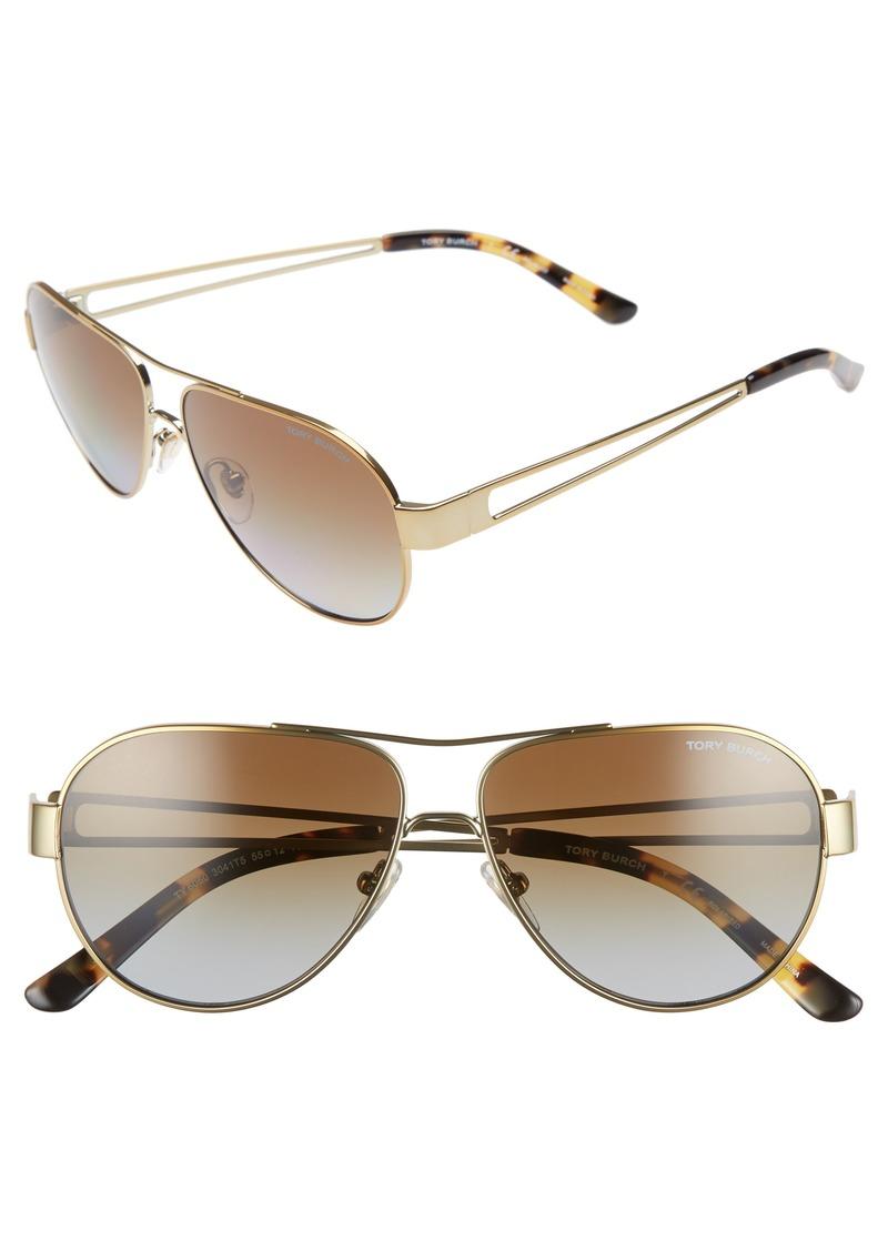 e732f971dddb Tory Burch Tory Burch 55mm Polarized Aviator Sunglasses