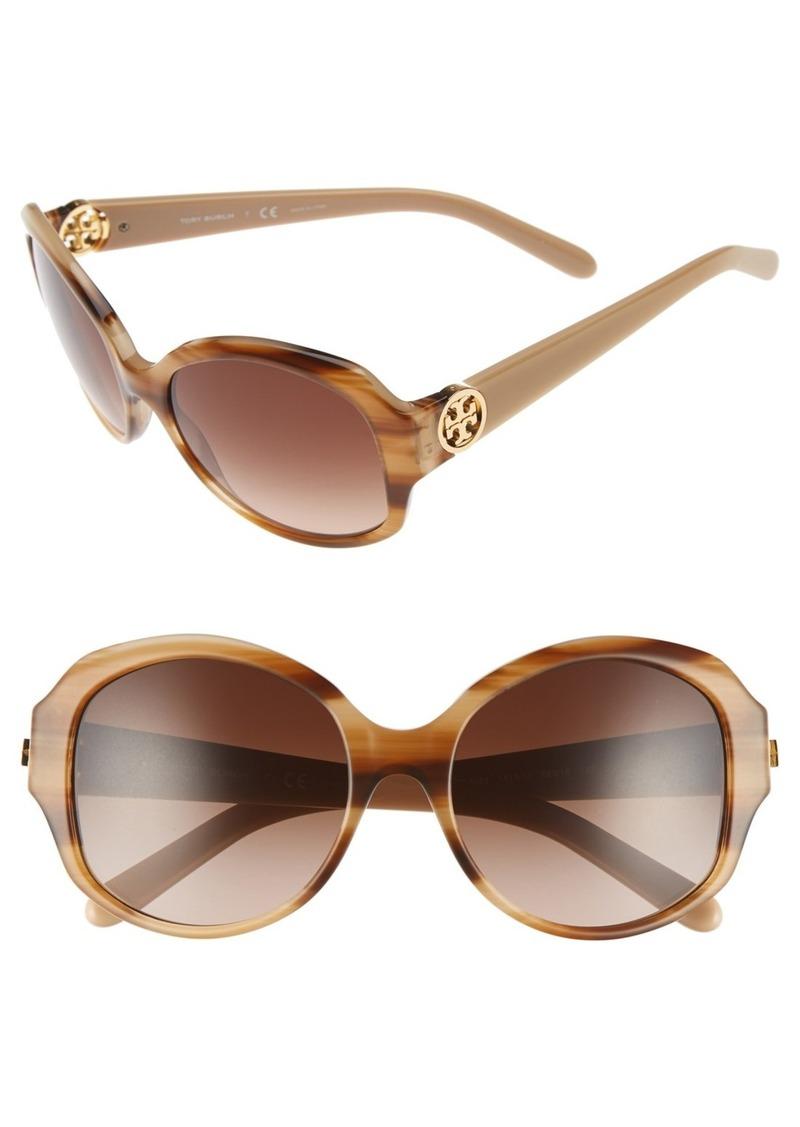 Tory Burch 55mm Round Sunglasses