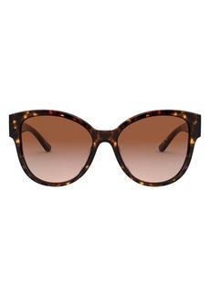 Tory Burch 56mm Gradient Cat Eye Sunglasses