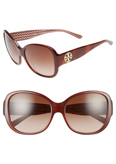 Tory Burch 56mm Gradient Retro Sunglasses