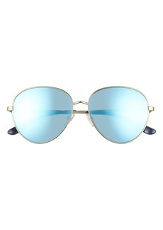 Tory Burch 56mm Mirrored Pilot Sunglasses