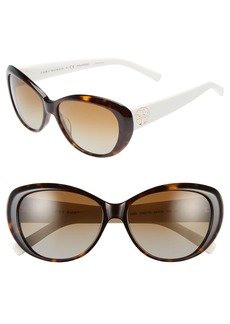 Tory Burch 56mm Polarized Cat Eye Sunglasses