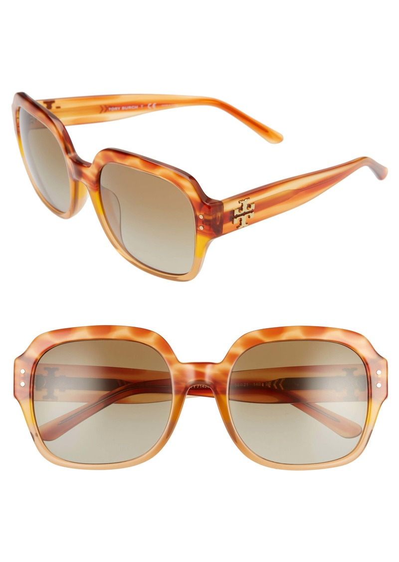 Tory Burch 56mm Round Sunglasses