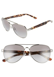 Tory Burch 57mm Aviator Sunglasses