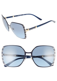 Tory Burch 57mm Gradient Square Sunglasses