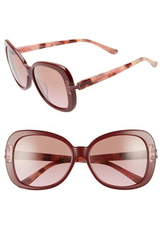 Tory Burch 57mm Logo T Square Sunglasses
