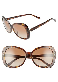 Tory Burch 57mm Logo T Square Sunglasses