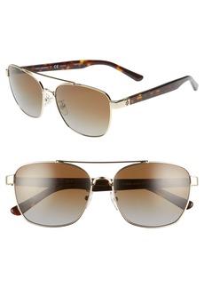 4e0a0c0e23 Tory Burch 57mm Polarized Gradient Navigator Sunglasses