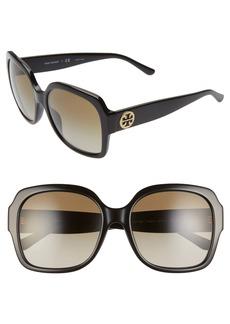 Tory Burch 57mm Square Sunglasses