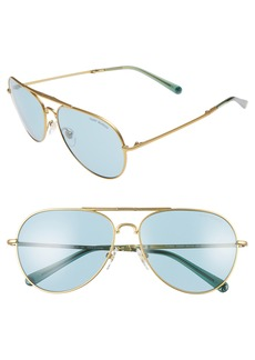 Tory Burch 58mm Foldable Aviator Sunglasses