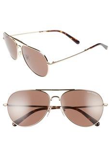 Tory Burch 58mm Foldable Aviator Sunglasses