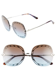 Tory Burch 58mm Gradient Square Sunglasses