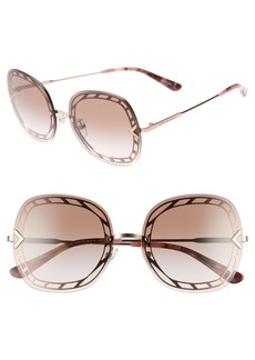 Tory Burch 58mm Gradient Square Sunglasses