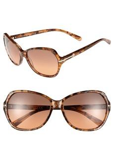 Tory Burch 58mm Logo Bar Square Sunglasses