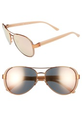 Tory Burch 60mm Aviator Sunglasses