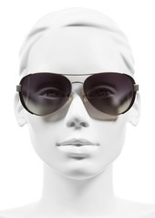 Tory Burch 60mm Polarized Aviator Sunglasses