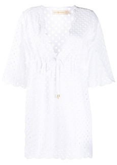 Tory Burch cut-out detail scalloped edge blouse