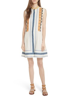 Tory Burch Adriana Sleeveless Shirtdress