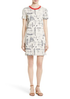 Tory Burch Adrift Print T-Shirt Dress