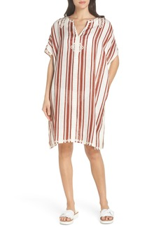 Tory Burch Alcott Beach Linen Cover-Up Caftan