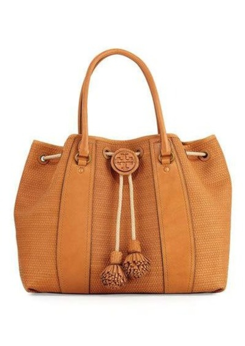 e5ae23a6c75 Tory Burch Tory Burch Amalfi Woven Drawstring Tote Bag