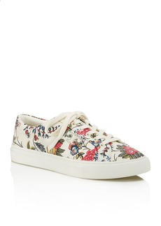 Tory Burch Amalia Floral Print Lace Up Sneakers