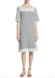 Tory Burch Anya Stripe Knit Shift Dress