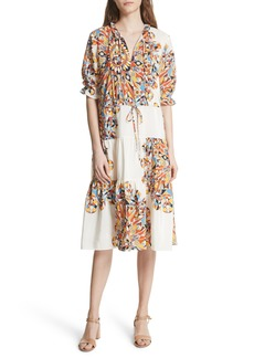 Tory Burch Arabella A-Line Silk Dress