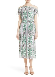 Tory Burch Asilomar Floral Midi Dress